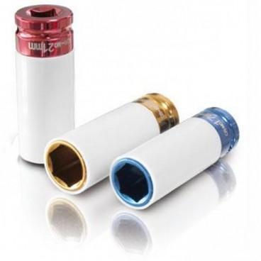Set 3 chei tubulare de impact cu protectie pentru jante 1/2, 17-19-21mm