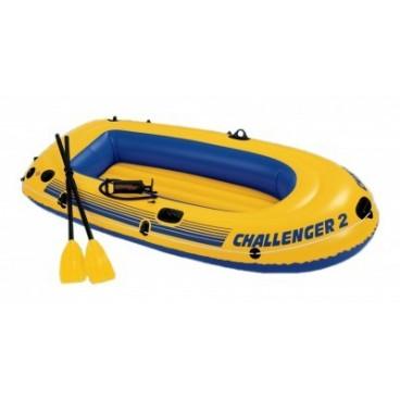 Barca gonflabila Challenger 2 pentru 2 persoane Intex 68367