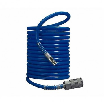 Furtun aer comprimat PVC profesional spiralat 15m, 7 bar, cuple rapide