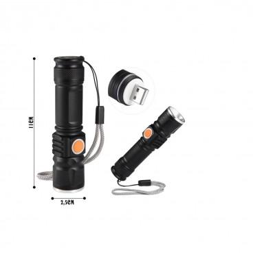 Lanterna cu acumulator incorporat incarcare USB Electric Torch